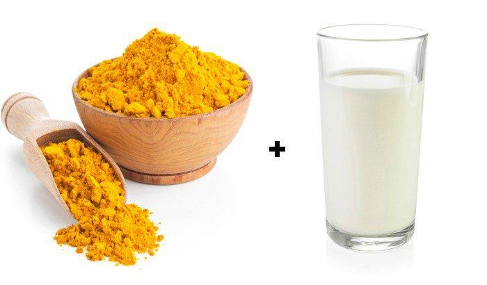 Sữa tươi kết hợp với tinh bột nghệ